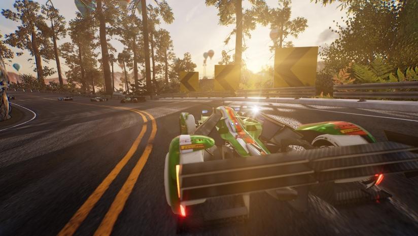 高速公路赛车游戏 道路自己建造画风唯美