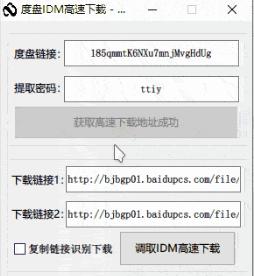 百度盘满速IDM下载工具中文版 提取链接高速下载