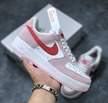 纯原Nike Air Force 1 权志龙联名 粉红情人节细节