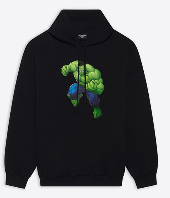 巴黎世家BALENCIAGA上架绿巨人胶囊系列卫衣潮服